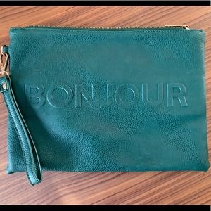 Bonjour Vegan Leather Clutch